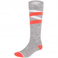 4F billige skistrømper, dame, cold light grey