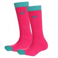 4F 2 par billige skistrømper, børn, pink