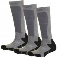 4F 3 par billige skistrømper, børn, dark grey