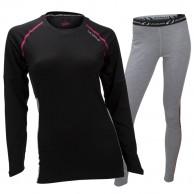 Ulvang Training skiundertøjssæt , dame, sort/grå