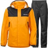 Didriksons Vivid Boy's regnsæt, junior, orange/sort