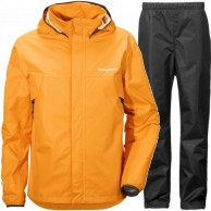 Didriksons Vivid Mens regnsæt, orange/sort