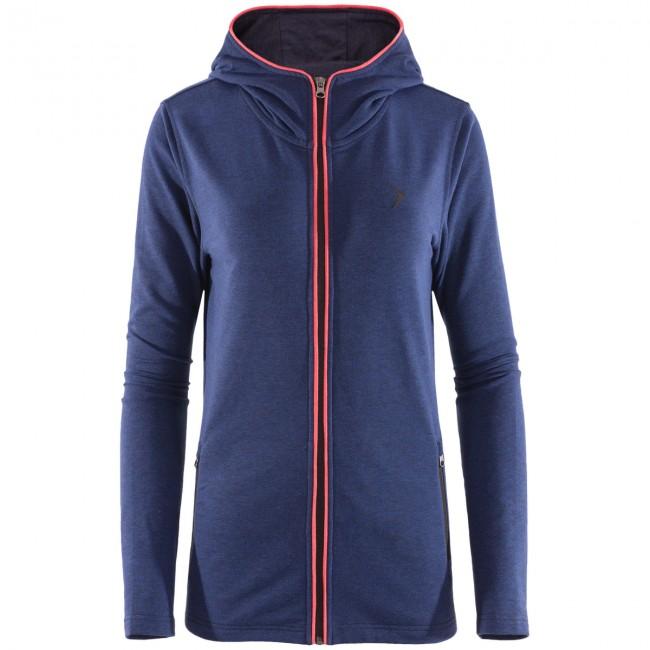 Denne tynde og lette sweatshirt er lavet i en blød og lækker blandingsfleece, som er behageligt at have på. Fleecetrøjen kan med sine varme og bløde egenskaber bruges som et ekstra lag under en ski- eller skaljakke eller som en ekstra varm trøje på en kølig aften.Pullien er meget tynd og en smule strækbar, hvilket giver en god bevægelsesfrihed, der gør den anvendelig til aktivt brug. Trøjen har en hellang lynlås, så du bedre kan regulere temperaturen, og en hætte.Specifikationer og featuresHellang lynlåsMateriale: 60 % bomuld, 40 % polyesterVægt: 280 gsmTo lynlåslommer foranHætte