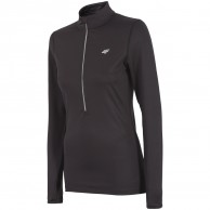 4F QuickDry fleecepulli, dame, sort
