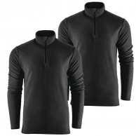 Outhorn Mideli 1/4 zip fleecepulli, børn/junior, sort, 2-pak