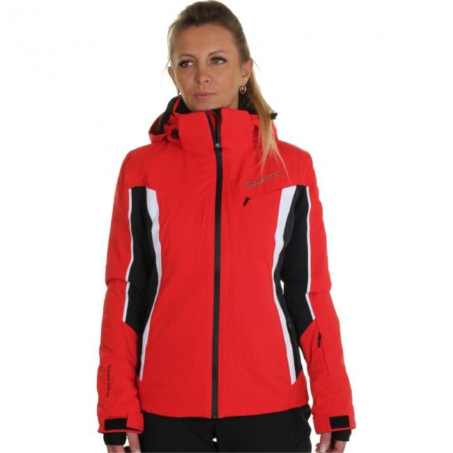 rød skijakke dame
