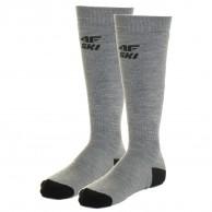 4F 2 par billige skistrømper, herre, cold light grey