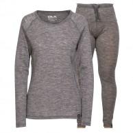 Trespass Libra/Chara skiundertøjssæt, dame, grå