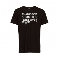 Thank God Summer is Over T-shirt, sort/hvid