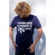 Thank God Summer is Over T-shirt, navy