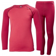 Helly Hansen Lifa Merino Mid skiundertøjssæt, junior, persian red