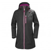 Helly Hansen W Long Belfast Jacket, dame, charcoal