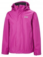 Helly Hansen JR Seven J, regnjakke, junior, pink