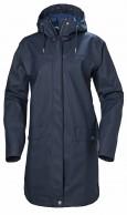 Helly Hansen Moss regnfrakke, dame, mørkeblå