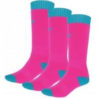 4F 3 par billige skistrømper, børn, pink