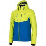 4F Noah, skijakke, herre, antracitgrå, grøn/blå