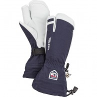 Hestra Army Leather Heli 3 finger skihandsker, mørkeblå