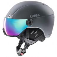 Uvex hlmt 400, skihjelm med visir, mørkeblå
