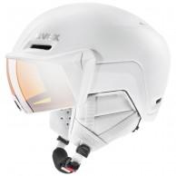Uvex hlmt 700, skihjelm med visir, hvid