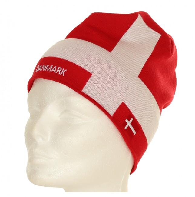 Tør du vise flaget, på skituren ?Lækker strikhue i rødt og hvidt. Ordet