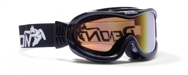 Skigoggle i lækker kvalitet fra Demon Occhiali. Brillen er en såkaldt OTG (over the glasses) brille, velegnet til brillebrugere.Linse: Orange Blue Mirror. Kat. 2 linse100% UV-beskyttelse. Ventileret ramme. Hjelmkompatibel. Anti-dug. Dobbeltlinse.Meget let goggle i lækkert italiensk designItalienske Demon er blandt vor mest populære mærker af skibriller og det er ikke uden grund. Brillerne er af særdeles høj kvalitet i forhold til prisen og i november 2012 var Demon også vinderen af 24 timers test af skibriller, med prædikatet