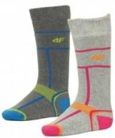 4F Ski Socks, billige skistrømper til børn, 2-par