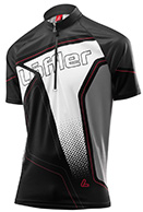 Löffler Bike-Trikot Performance Hz-Cf Race Light, sort, herre