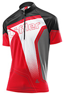 Löffler Bike-Trikot Performance Hz-Cf Race Ligh, rød, herre