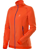 Haglöfs Bungy II Q Jacket, fleecejakke, dame, orange