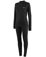 4F Cooldry skiundertøj, dame, sæt, sort