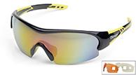 Demon Fuel sportssolbriller, sort/gul, 3 linser