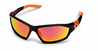 Demon Emotion 2 Revo sportssolbriller, sort/orange