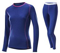 Löffler Transtex-wool Long, dameskiundertøj sæt, blå