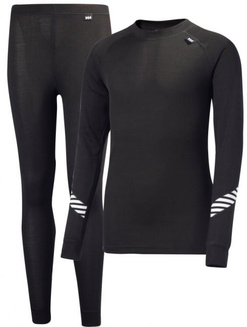 Spar penge og køb et sæt sort HH®Dry Lifa skiundertøj fra Helly Hansen til børn. Sættet består af en trøje med lange ærmer og rund hals, samt et par bukser med lange ben. Et juniorsæt i
