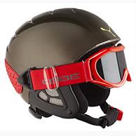 Cebe Twinny skihjelm, grå/rød