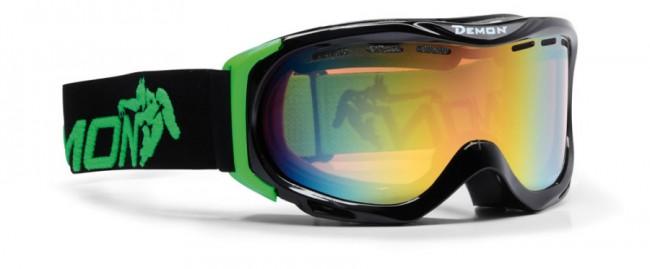 Skigoggle i lækker kvalitet fra Demon Occhiali som fås i flere farverige designs. Skibriller i en facon og størrelse der gør den velegnet til pigerne.Linse med god ventilation og naturligvis antidugbehandling. God placering af remmen som sidder langt fremme på brillens ramme og gør brillen særdeles velegnet sammen med hjelm.Gogglen kommer med en Orange Green Mirror linse (Kategori 2), som er en super allround-linse i alt fra snevejr til solskin.Fakta:100% UV-beskyttelse. Ventileret linse og ventileret ramme. Hjelmkompatibel. Anti-dug behandlet Dobbelt linse. Lækkert italiensk designItalienske Demon er blandt vor mest populære mærker af skibriller og det er ikke uden grund. Brillerne er af særdeles høj kvalitet i forhold til prisen og i november 2012 var Demon også vinderen af 24 timers test af skibriller, med prædikatet