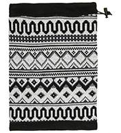 4F halsedisse/bandana med mønster i sort/hvid
