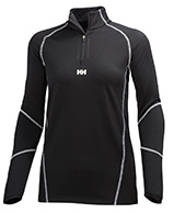 Helly Hansen W Phantom 1/2 zip Midlayer, sort