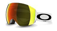 Oakley Flight Deck, Matte White,  Fire Iridium