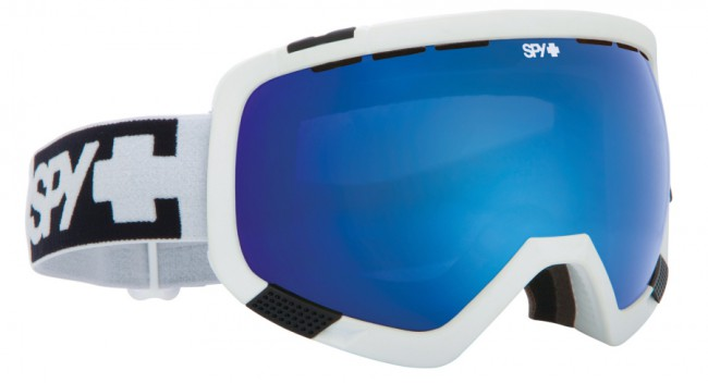 Spy+ Platoon Ski Goggle i hvid med Bronze linse + Blue Contact linse. Fleksibel ramme der tilpasser sig ansigtetGod ventilationAntidugbehandlet100% uv beskyttelseTre lags skum Rem med gode justeringsmuligheder