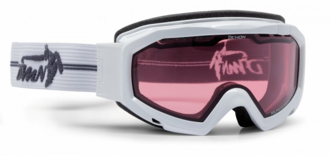 Top skibrille i suveræn optisk kvalitet og et lækkert design fra italienske Demon Occhiali. Passer rigtig godt med hjelm, da remmen er