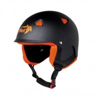 Demon Action skihjelm, sort/orange