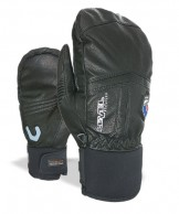 Level Off Piste Leather Mitt, sort