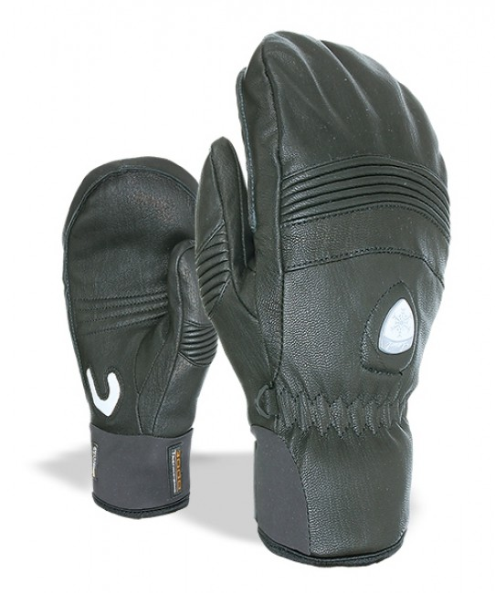 Komfortabel og varm handske til den ambitiøse skiløber. Materialemixet, skaber balance mellem varme, vejrbeskyttelse og fugtafledning.Detaljer: Vandafvisende imprægnering. Tommel med blød næseklud  Teknologi: Thermo-Plus 3000 Korte neopren manchetter karabinhage til fæstning af handskeMaterialer: Overflade: Læder Håndflade: Læder For: Uld, der både varmer og absorberer sved Isolering: Level Loft