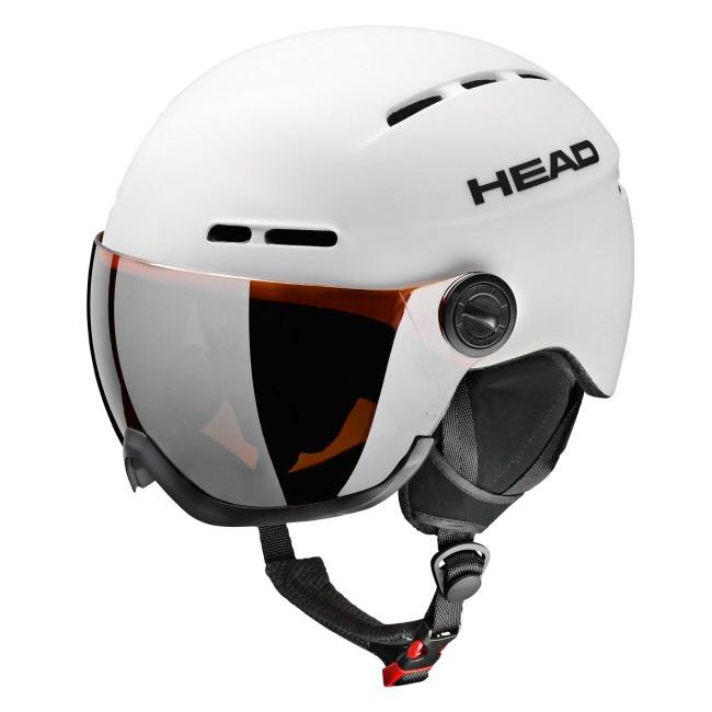 Knight skihjelmen har HEAD Fit justering i nakken, som sikrer optimal pasform. Hjelmen er med visir, hvilket er en fordel for alle, der bærer briller og dermed ofte har svært ved at finde skibriller, der sidde godt og komfortabelt over brillerne.Egenskaber:* In-Mould MONO COREDette er teknologien der betyder at man med begrænsede materialer kan lave en stærk hjelm som overholder gældende regler for hjelme* Automatic Thermal VentilationDit hoved skaber fugt og varme, udluftningssystemet er designet med kanaler der sikre at varm fugtig luft kommer fra hovedet uden at der kommer for meget kold luft til* HEAD 2D FitJustering i nakken, der giver mulighed for individuel tilpasning af hjelmen til netop dit hovede.* Lower Microshell* Vent Dams storm shutters* Soft suede fabric liningCE EN 1077 certificeret hjelmVægt: ca. 490 gram. (M/L)En god hjelm at købe online, da HEAD Fit systemet sikrer perfekt pasform.