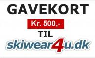 Gavekort til Skiwear4u.dk, kr. 500,-