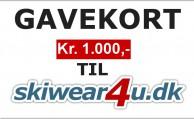 Gavekort til Skiwear4u.dk, kr. 1000,-